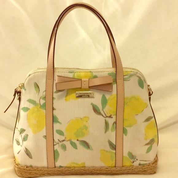 Kate Spade Maise lemon/espadrille handbag